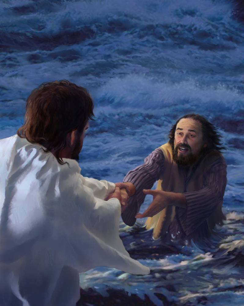 jesus walks the waves with us v gerhardy