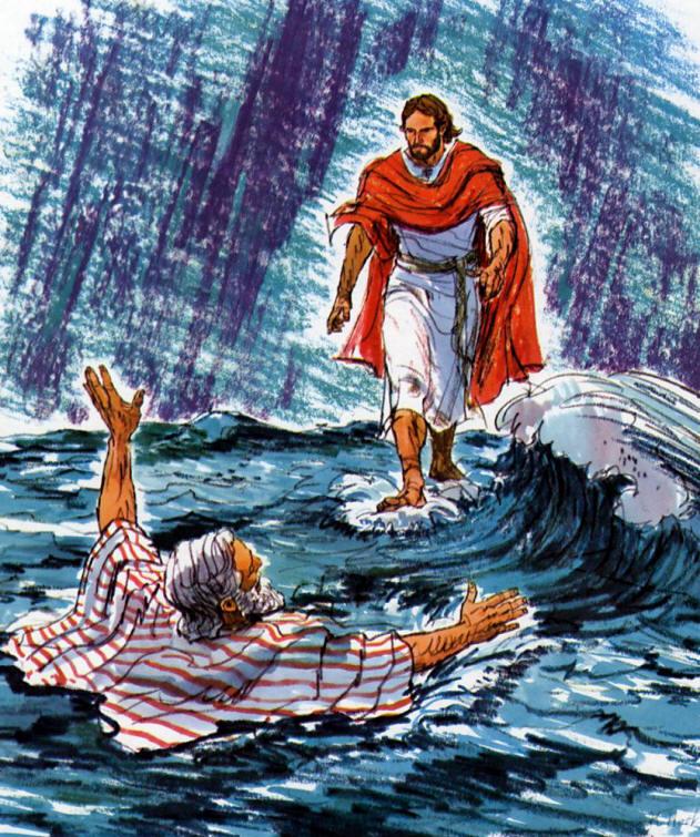 Jesus Walking On Water Tattoo Pin Jesus-walking-on-w...